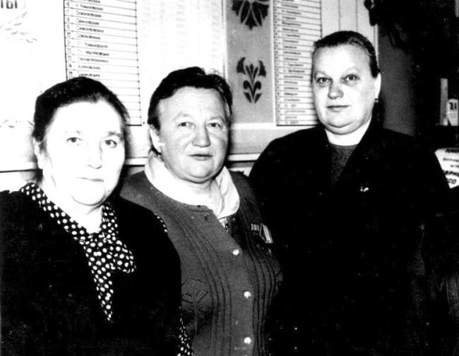А.Ф. Соловьева, Н.И. Подлузская, Н.С. Бруевич