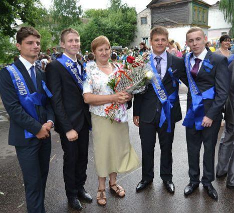 Голикова (Туйманова) Тамара Алексеевна с выпускниками 2013… Мглин