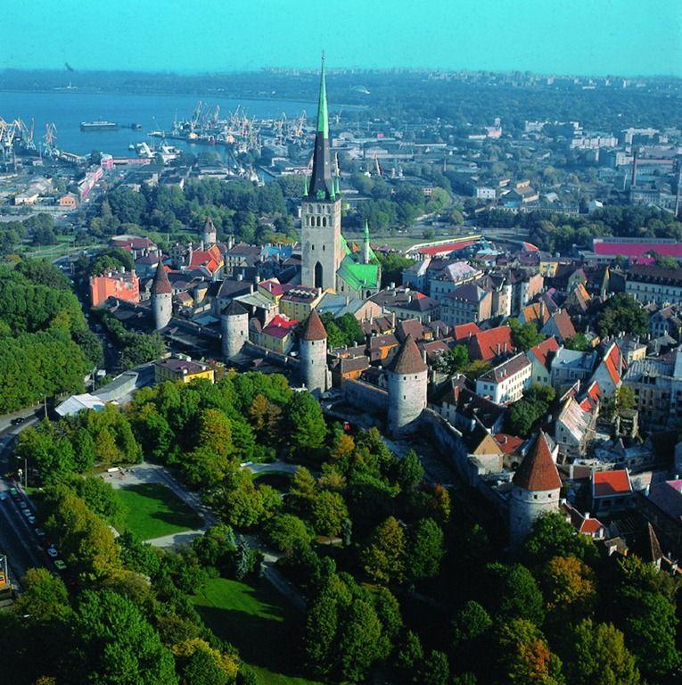 Таллинн, вид на старый город